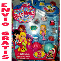 En Mano Splashlings Serie 2 Set 12 Pzs Shopkins Sirenas 2017