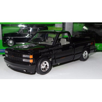 1:24 Chevrolet Pick Up 454 Ss 1992 Negro Motor Max C Caja