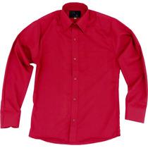 Camisa Vestir Infantil Juvenil Bailables Roja 2 A 16