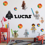 Vinilo Personajes Lego Starwars Con Tu Nombre!