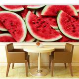 Adesivo Painel Papel Parede Cozinha Frutas Suco Melancia M38