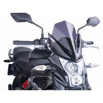 Bolha Fume Escura Naked Kawasaki Er-6n Er6n Er 6n Puig