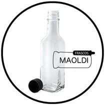 Botella De Vidrio Cuadrada 250 Ml 24 Pz Envase Maoldi Frasco