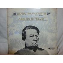 Vinilo Carlos Di Fulvio Canto Monumento