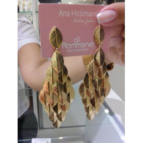 Brinco Coleção Ana Hickmann Rommanel Folheado.med. 9,8 Cm