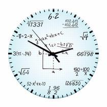 Relógio De Parede Matemática Em Madeira Mdf - 28 Cm