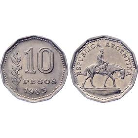 Argentina 10 Pesos 1963 - El Resero Km# 60