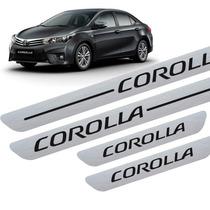 Kit Aplique Autoadesivo Soleira Toyota Corolla 4 Peças