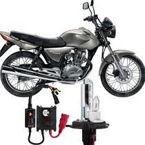 Kit Xenon Moto Honda Cg 150 Lampada 8000k H4-2 (2004 A 2009)
