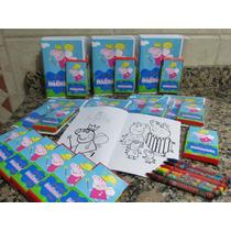 10 Libro Colorear + Crayones Personalizado Con Rompecabezas