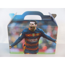 Cajita Bolsita Messi Barcelona Futbol Souvenirs Pack X40