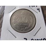Moneda De Plata 50 Centavos 1907 Ley .800 7 Curvo A