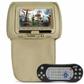 Tela Encosto Cabeça C/ Leitor Dvd Usb Sd Card + Cd Jogos
