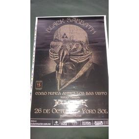Black Sabbath Poster Oficial Promo Foro Sol 2013 Ozzy