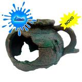 Enfeite De Resina Soma Deco Ceramica Grega Ruina