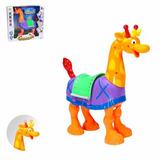 Brinquedo Infantil Girafa Move Pernas Cabeça E Cauda Pilha