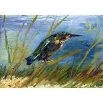 Lienzo Tela Martín Pescador En La Costa Vincent Van Gogh