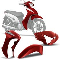 Kit Conjunto Carenagem Honda Biz 125 2013 Vermelho