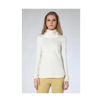 Blusa Lacoste Folfy Original Algodon Off White Talla 4