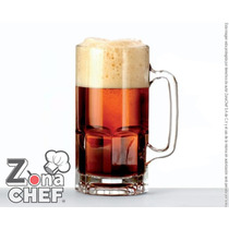Super Tarro Cervecero Gigante De 1 Litro De Cristal 24 Pzs