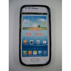 Protector Case Funda Silicon Negro Galaxsy S4 Mini