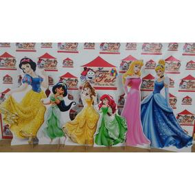 Kit Cenário Display Chão Princesas 6 Peças. Mdf. Toten