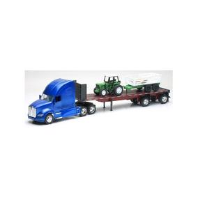 Trailer Kenworth T700 Plataforma Con Tractor Escala 1:32