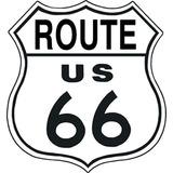 Tsn0679 Letrero Lamina Decorativa Route 66
