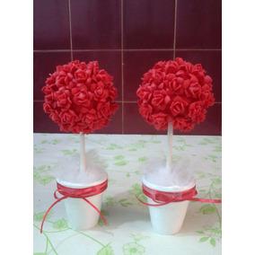 Topiarios- Arbolitos, Souvenirs De Flores En Porcelana 20c