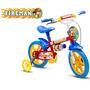 Bicicleta Infantil Menino Aro 12 Fireman Bike Nathor