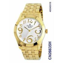 Promoção Relógio Champion Dourado Vários Modelos Eleg.+frete