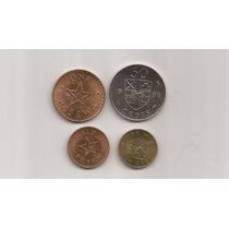 Ghana Set De 4 Monedas Años Varios