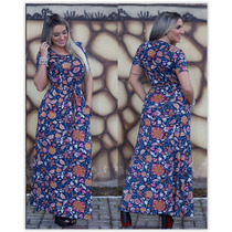 Vestido Longo Moda Evangelica Tecido Viscolycra Kit C/03