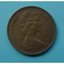 30 - Inglaterra 2 New Pence 1979, 26mm Elizabeth - Bronze