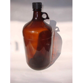 Botellón Vidrio 4,3l Color Ámbar O Caramelo,nuevo Importado