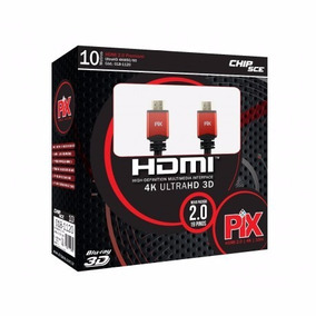 Cabo Hdmi 10m Blindado 2.0 Ethernet 10 Metros 4k 3d 2160p