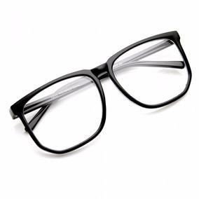 Armação Óculos De Grau Grande Geek Retrô Preto Fosco