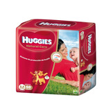 72 Pañales Huggies Natural Care Rojos Talle M 5,5 A 9,5kg