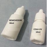 Cola Uv 10ml Colar Vidro Celular + Removedor De Cola 30ml