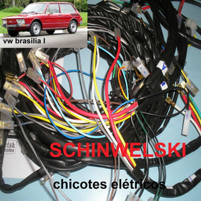 Chicote Elétrico Vw Brasilia C/esquemas E Desenhos.