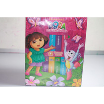 12 Libros De Carton Dora La Exploradora, Nickelodeon- Nuevo