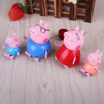 Kit 4 Bonecos Da Turma Familia Peppa Pig Pronta Entrega