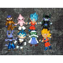 Lote De 8 Figuras Dragon Ball Z Goku Vegeta Cell Freezer Boo