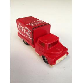 Caminhão Expressinho Glasslite Coca Cola Antigo Raro Coleção