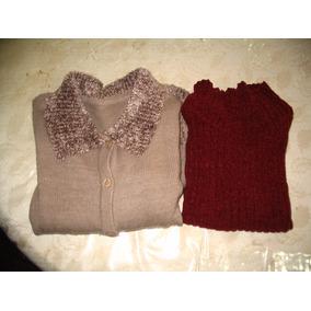 Saco Abierto Saquito Lana Sweater Pullover Y Chaleco Chenile