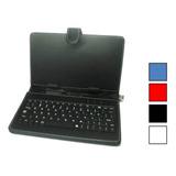 Estuche Teclado Tablet 7 Usb Porta Lapiz Pen Stylus Funda