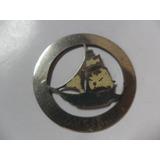 Barco A Vela Velero Navio Medalla Chapa Calada Circular