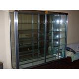 Vitrina De Aluminio-vidrio Con Luz