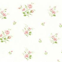 Papel Parede - Floral Rosa - Bobinex - (10 Metros X 52cm)
