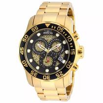 Relógio Invicta 19837 Pro Diver Original Gold Black Completo